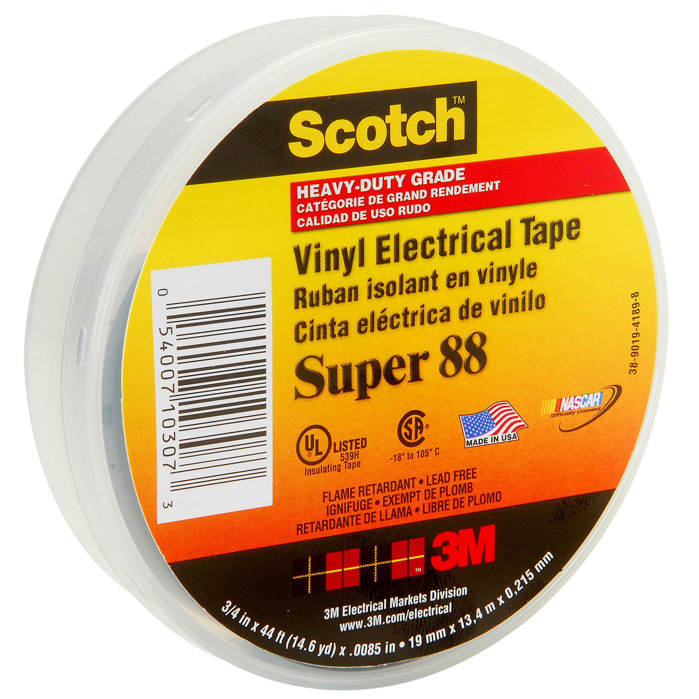 3M™ Scotch® Professional Grade Vinyl Electrical Tape Super